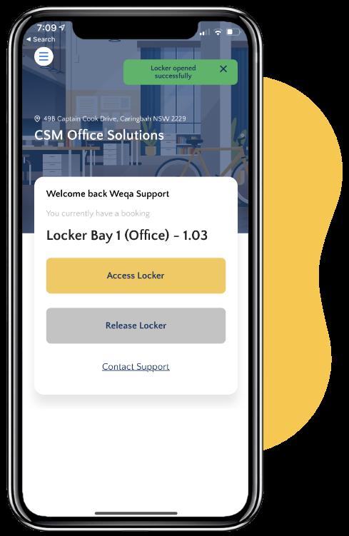 Smart locker booking app